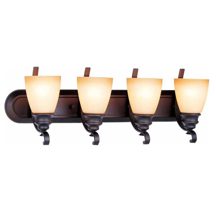 Goodell 4-Light 10-in Foundry Bronze Vanity Light