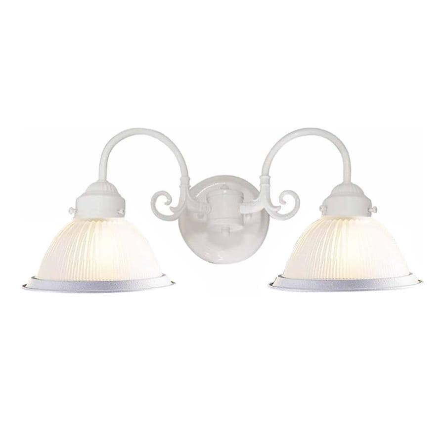 Madelyn 2-Light 8.25-in Textured White Vanity Light