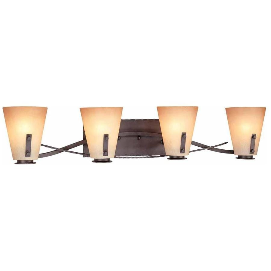 Marianna 4-Light 7-in Frontier Iron Vanity Light