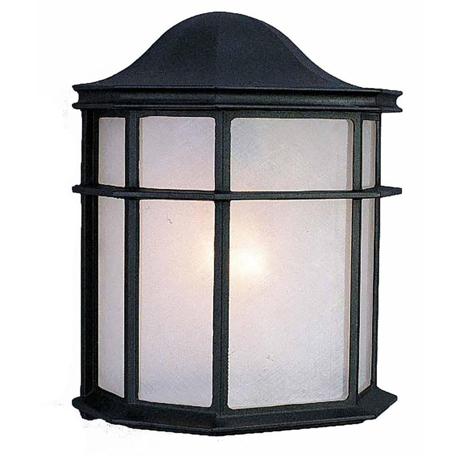 Harco 10-in H Black Outdoor Wall Light