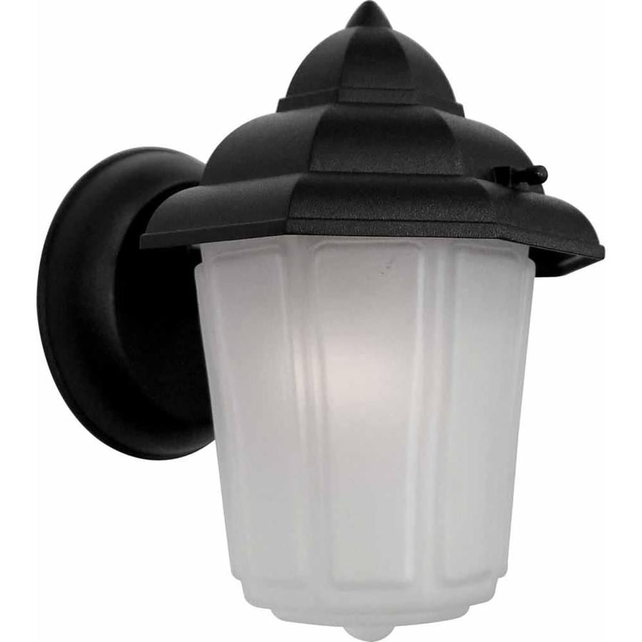 Bascom 8.75-in H Black Outdoor Wall Light