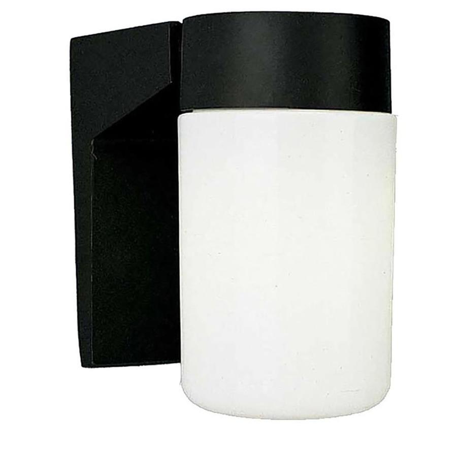Wapella 6.5-in H Black Outdoor Wall Light