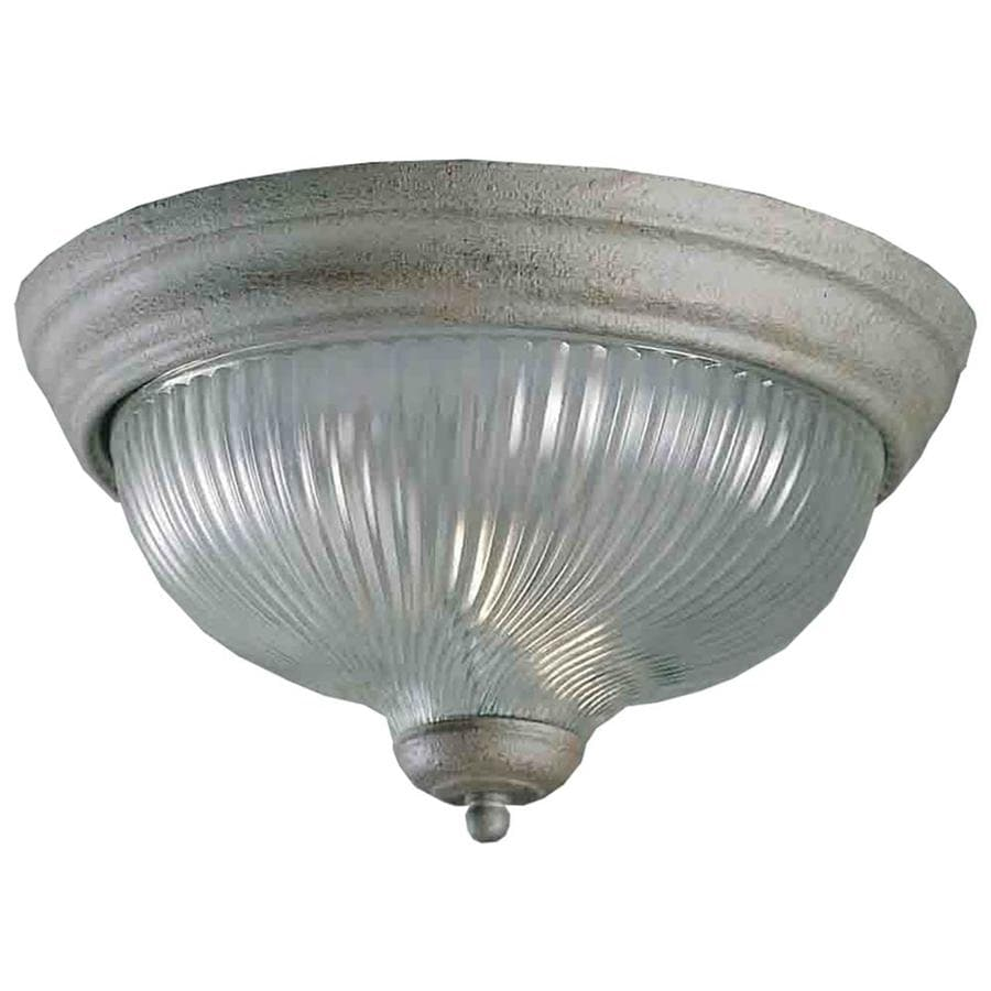 Amsden 15-in W Platinum Rust Flush Mount Light