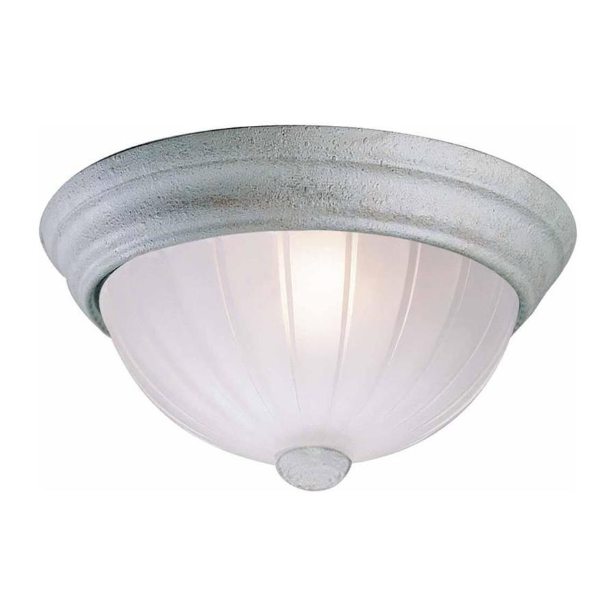 Milroy 13-in W Platinum Rust Flush Mount Light