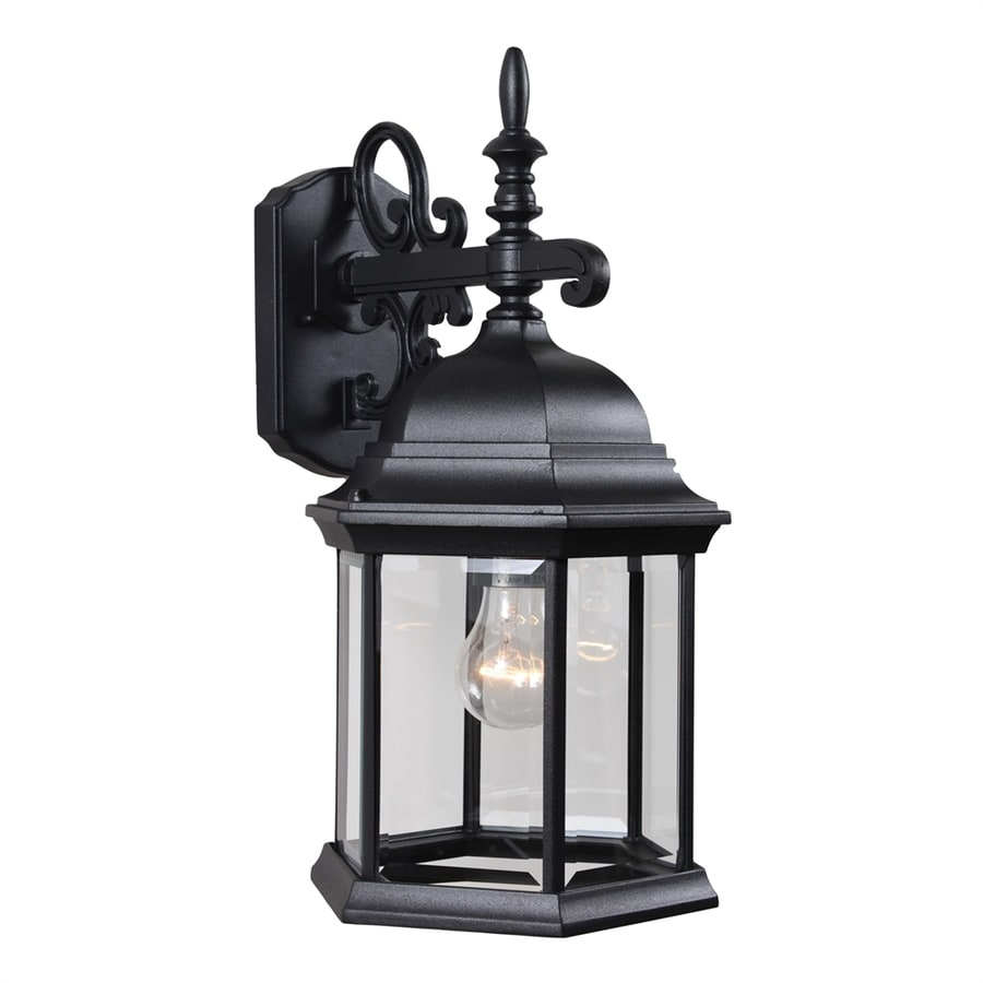 Slayton 18.75-in H Black Outdoor Wall Light