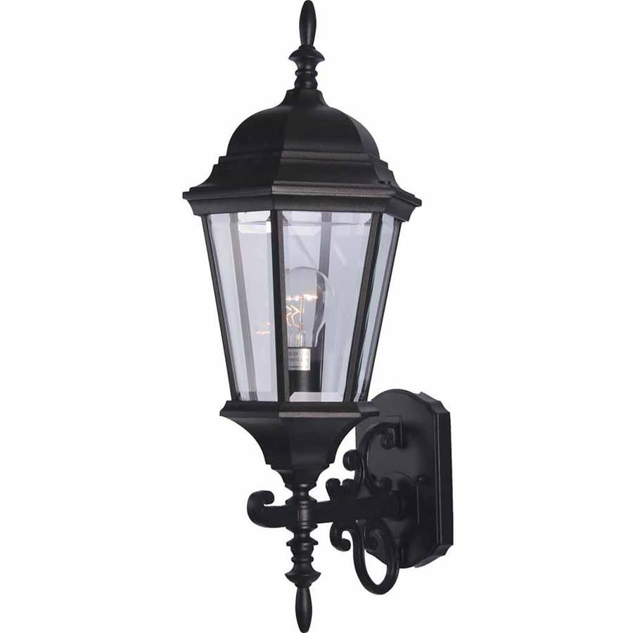 Slayton 24.5-in H Black Outdoor Wall Light