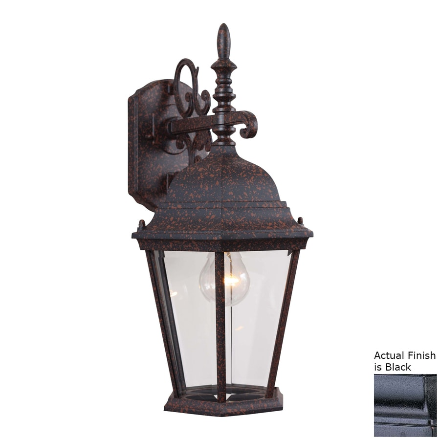 Slayton 18.5-in H Black Outdoor Wall Light