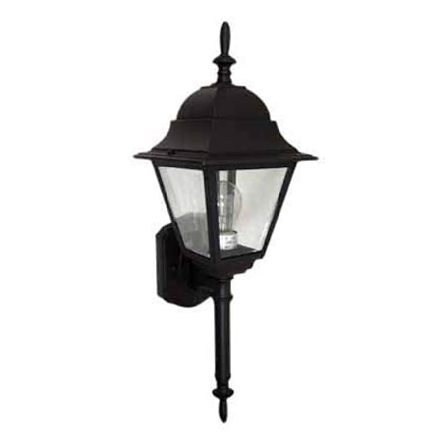 Eldred 22.75-in H Black Outdoor Wall Light