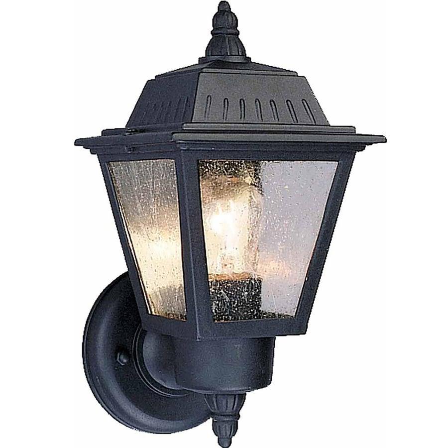 Honomu 10.5-in H Black Outdoor Wall Light