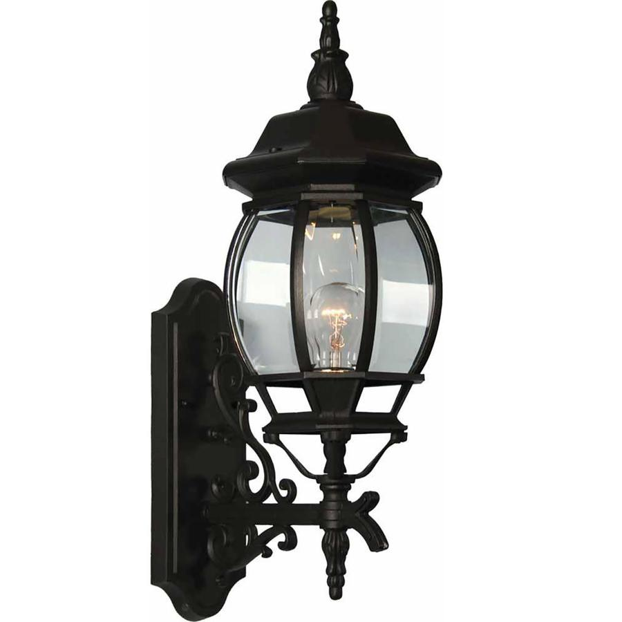 Hughson 23.5-in H Black Outdoor Wall Light