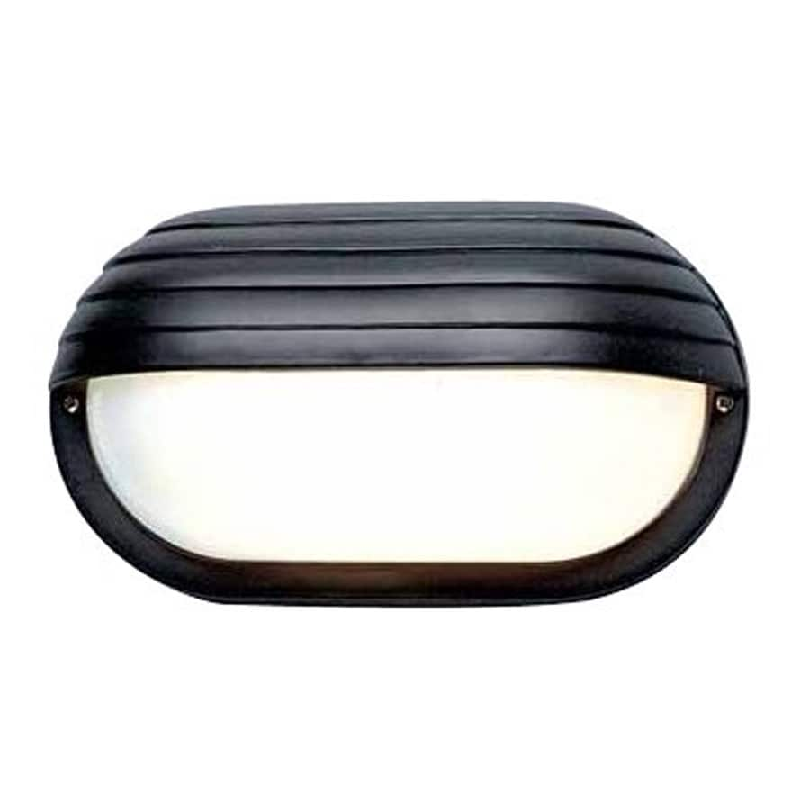 Shop Shefte 6 In H Black Outdoor Wall Light At Lowes