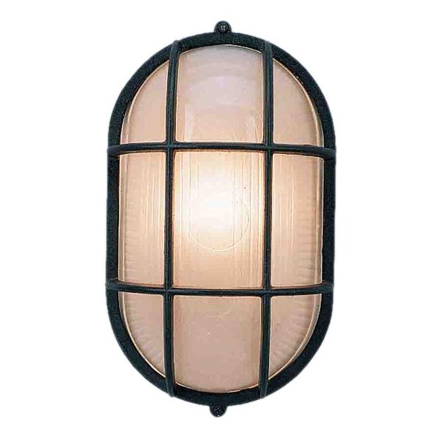Cortaro 11-in H Black Outdoor Wall Light