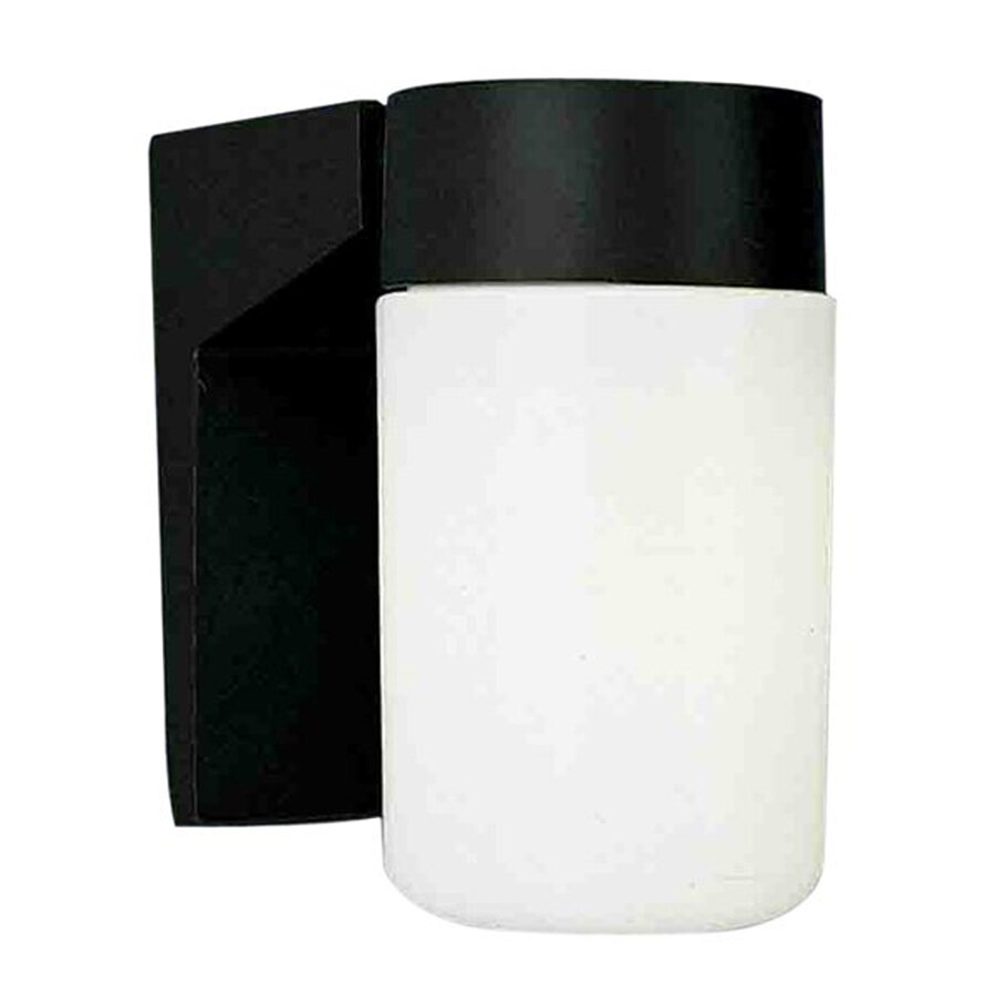 Wapella 6.5-in H Black Outdoor Wall Light