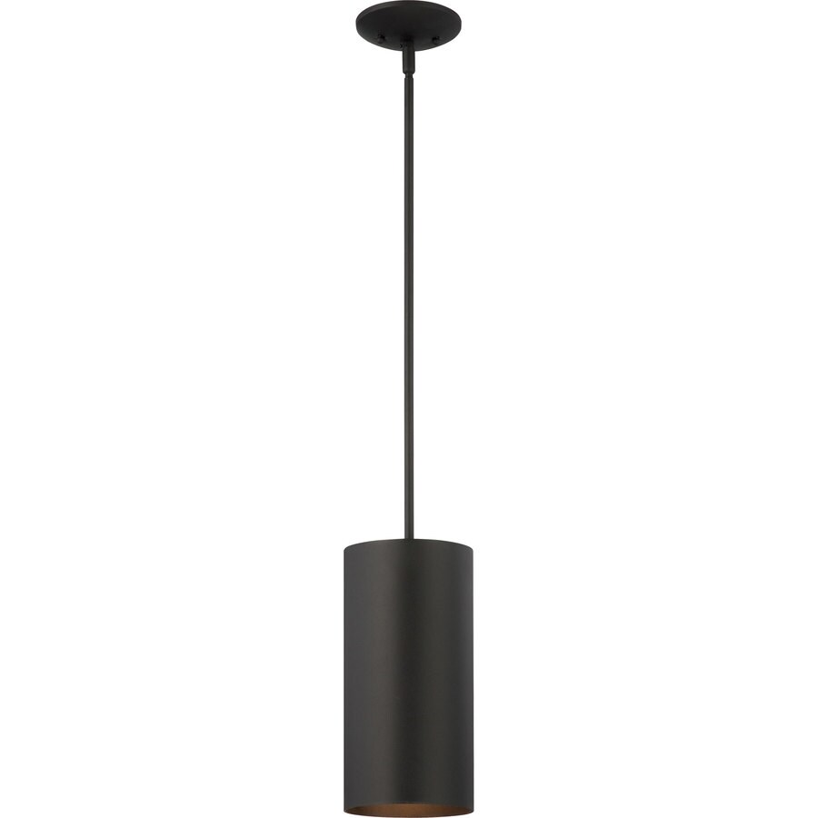 Dierks 12-in Black Outdoor Pendant Light