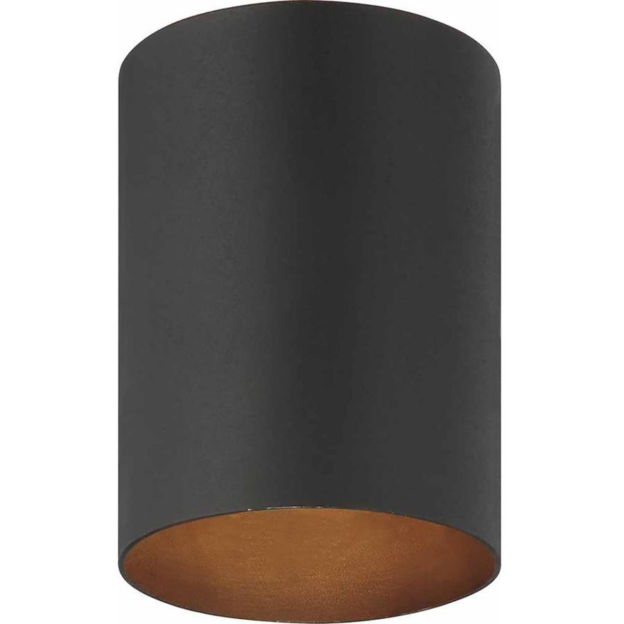Waucoma 5-in W Black Outdoor Flush-Mount Light