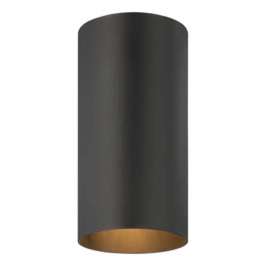 Waucoma 6-in W Black Outdoor Flush-Mount Light