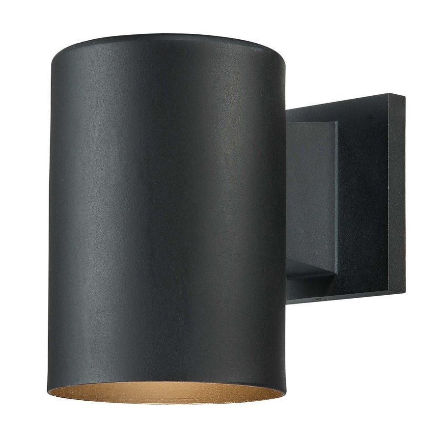Owen 7.25-in H Black Outdoor Wall Light