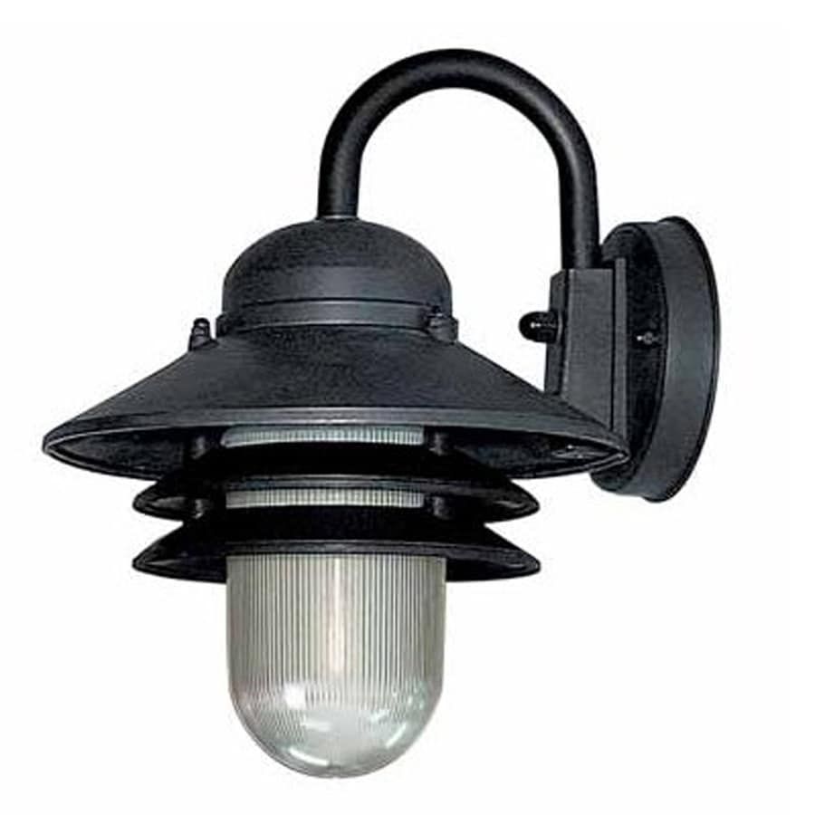 Sesser 10-in H Black Outdoor Wall Light