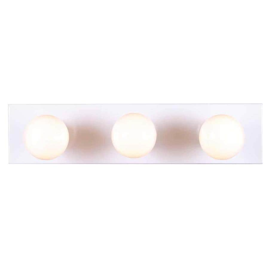 Houma 3-Light 4.5-in White Vanity Light