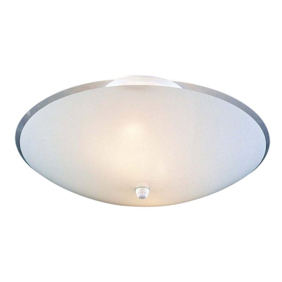 Lacona 14.5-in W White Flush Mount Light