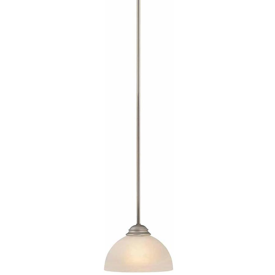 Repton 7.75-in Nickel Single Alabaster Glass Pendant