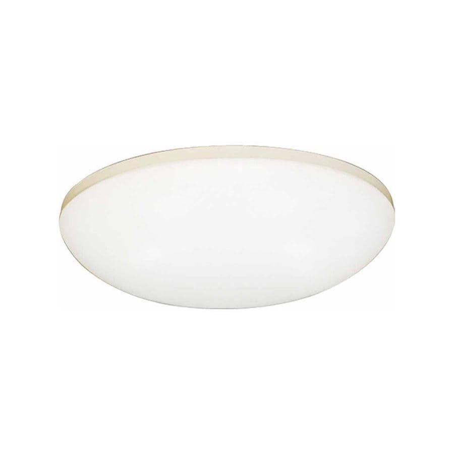 Drayton 14-in W White Flush Mount Light