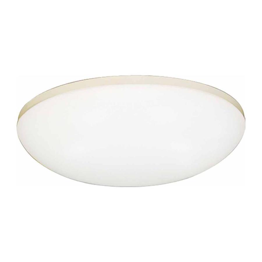 Drayton 18-in W White Flush Mount Light