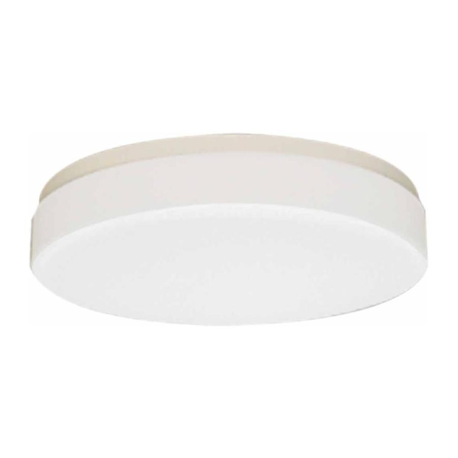 Juniata 14-in W White Flush Mount Light