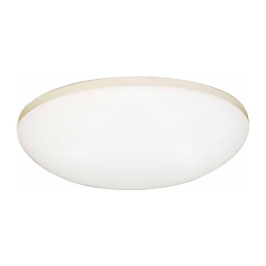Drayton 11-in W White Standard Flush Mount Light
