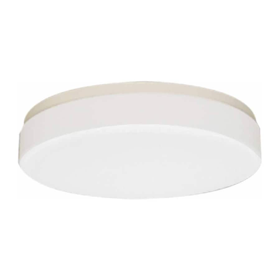 Juniata 11-in W White Flush Mount Light