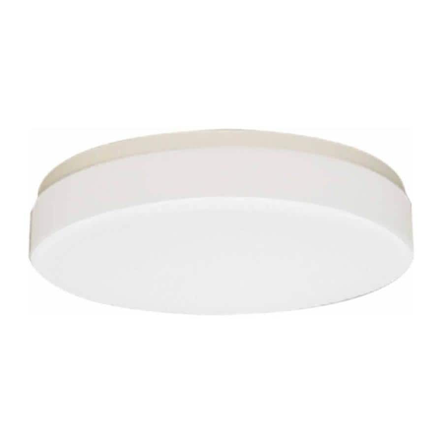 Juniata 11-in W White Standard Flush Mount Light