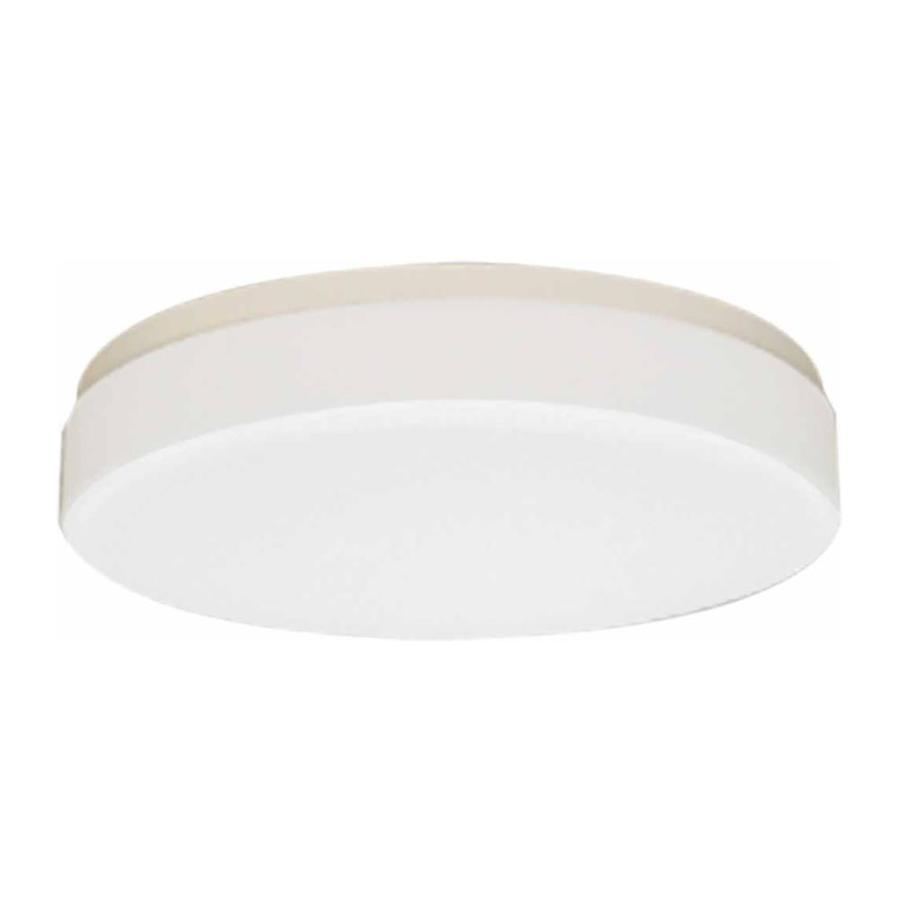 Juniata 14-in W White Flush Mount Light
