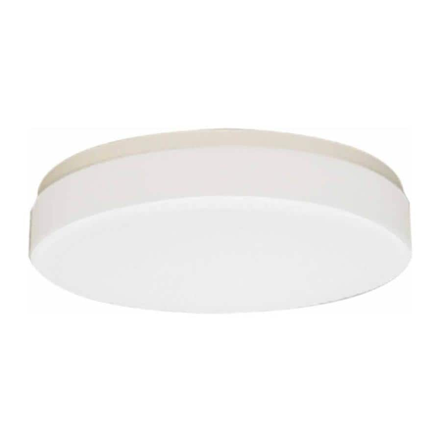 Juniata 14-in W White Ceiling Flush Mount Light