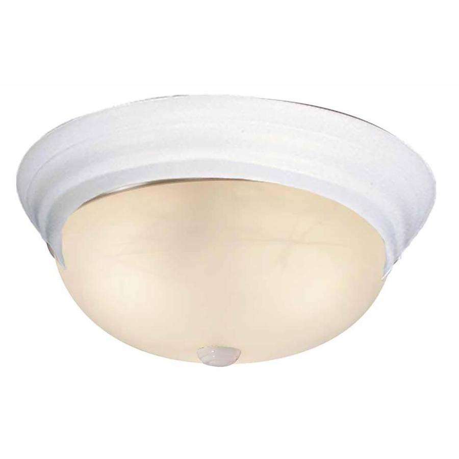 Oreana 11-in W White Standard Flush Mount Light