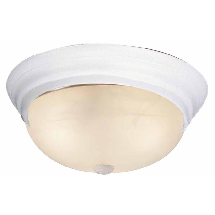 Oreana 13-in W White Flush Mount Light