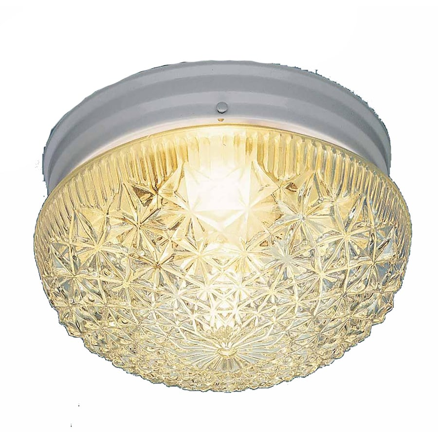 Trenary 9.5-in W White Flush Mount Light