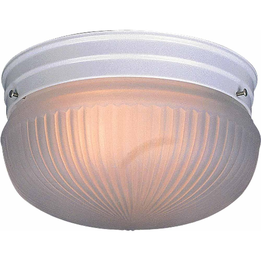 Bowden 9-in W White Flush Mount Light
