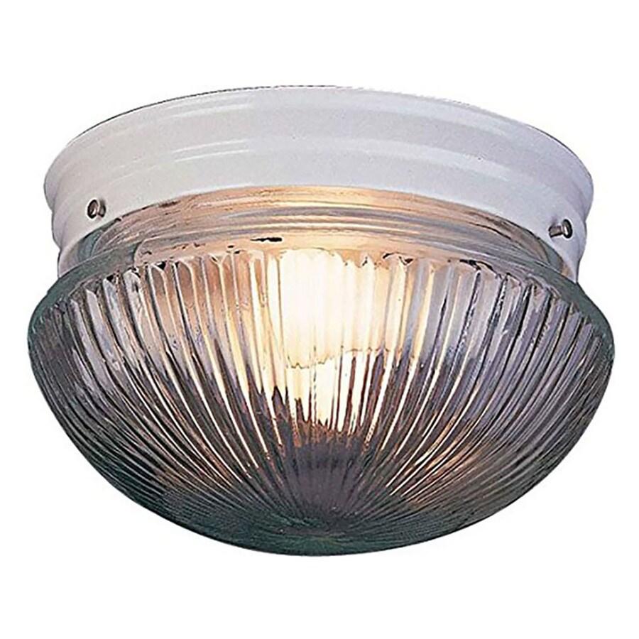 Seibert 9-in W White Flush Mount Light