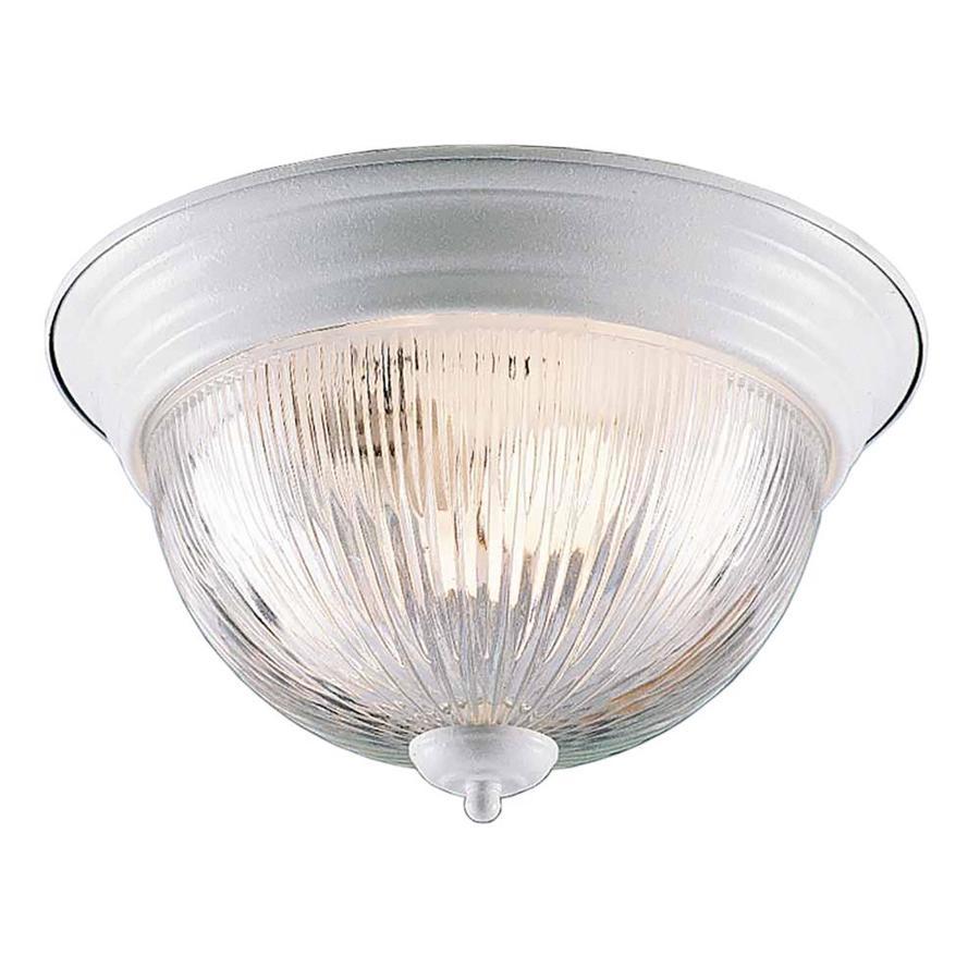 Amsden 11-in W White Flush Mount Light