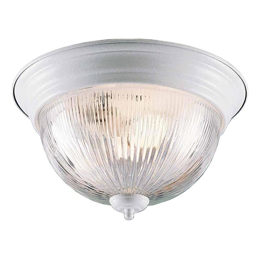 Amsden 13-in W White Standard Flush Mount Light