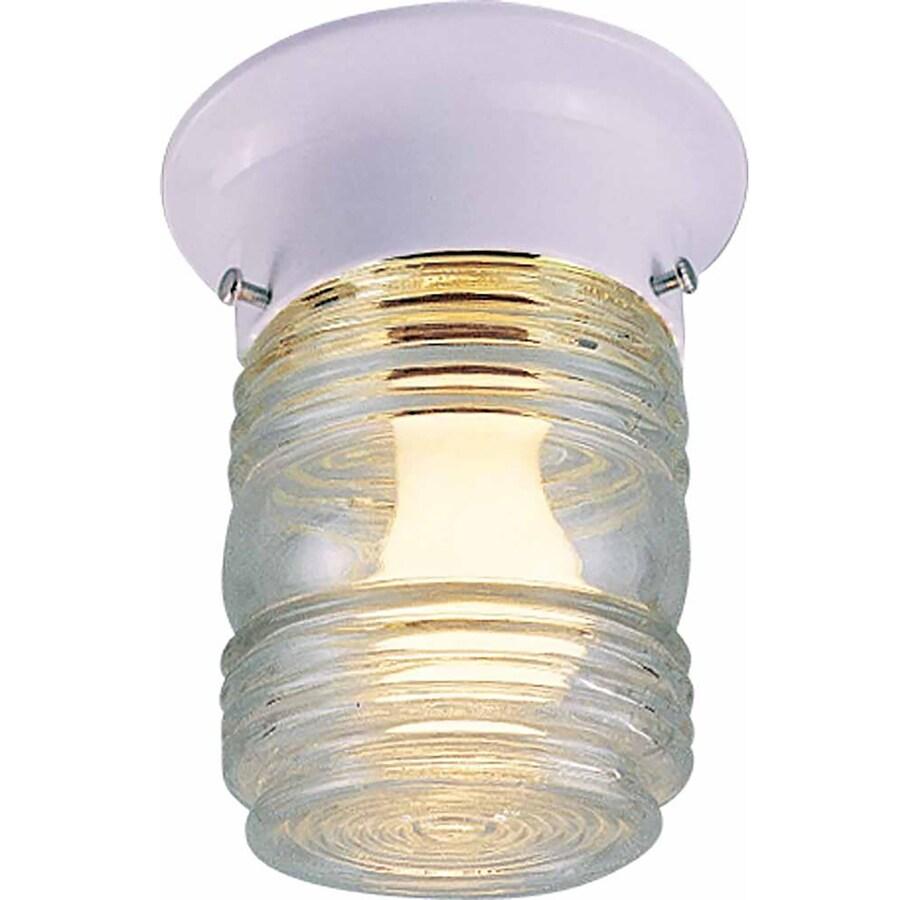 Valders 5-in W White Flush Mount Light