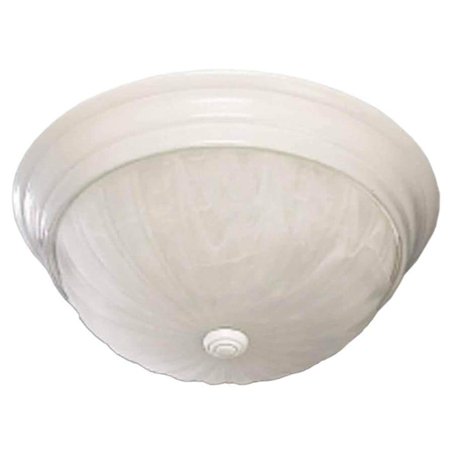 Laconia 13-in W White Flush Mount Light