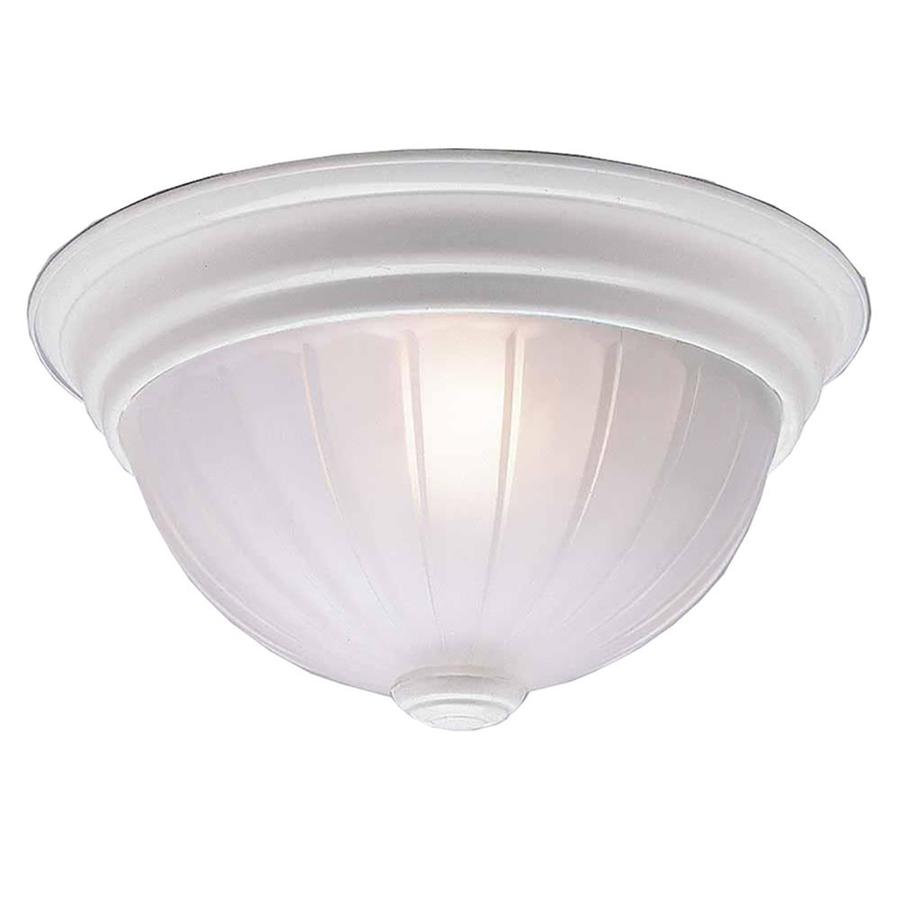 Milroy 13-in W White Flush Mount Light