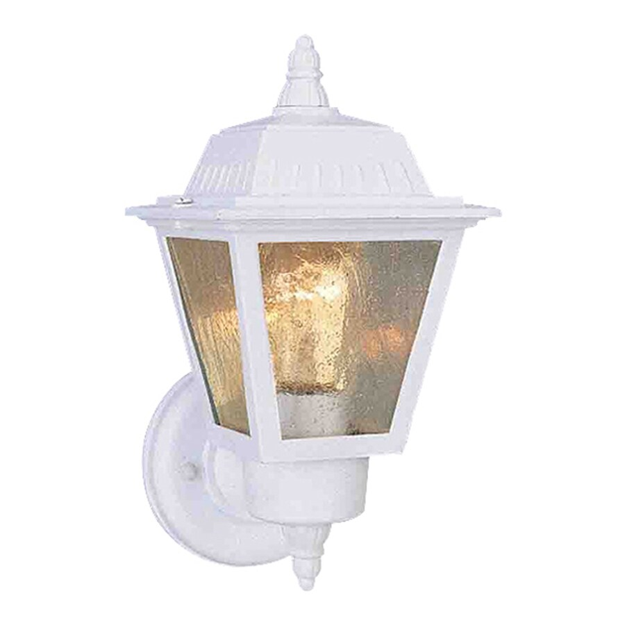 Honomu 10.5-in H White Outdoor Wall Light