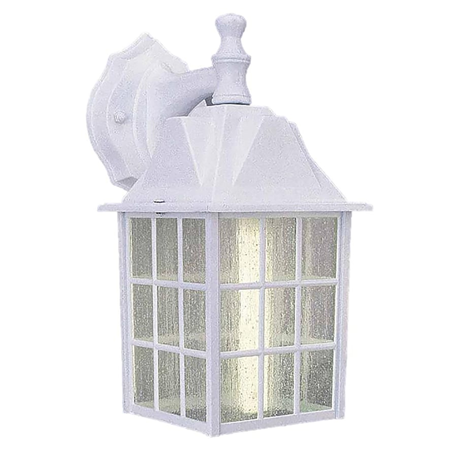 Torrey 12-in H White Outdoor Wall Light