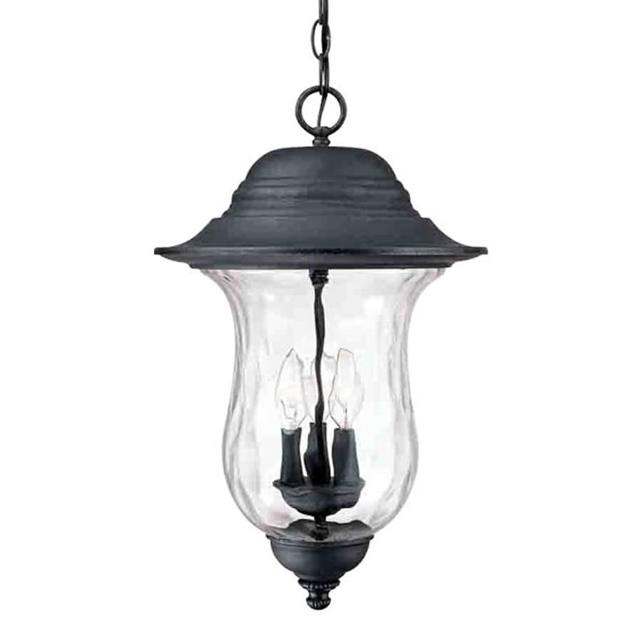 Coweta 22-in Antique Iron Outdoor Pendant Light