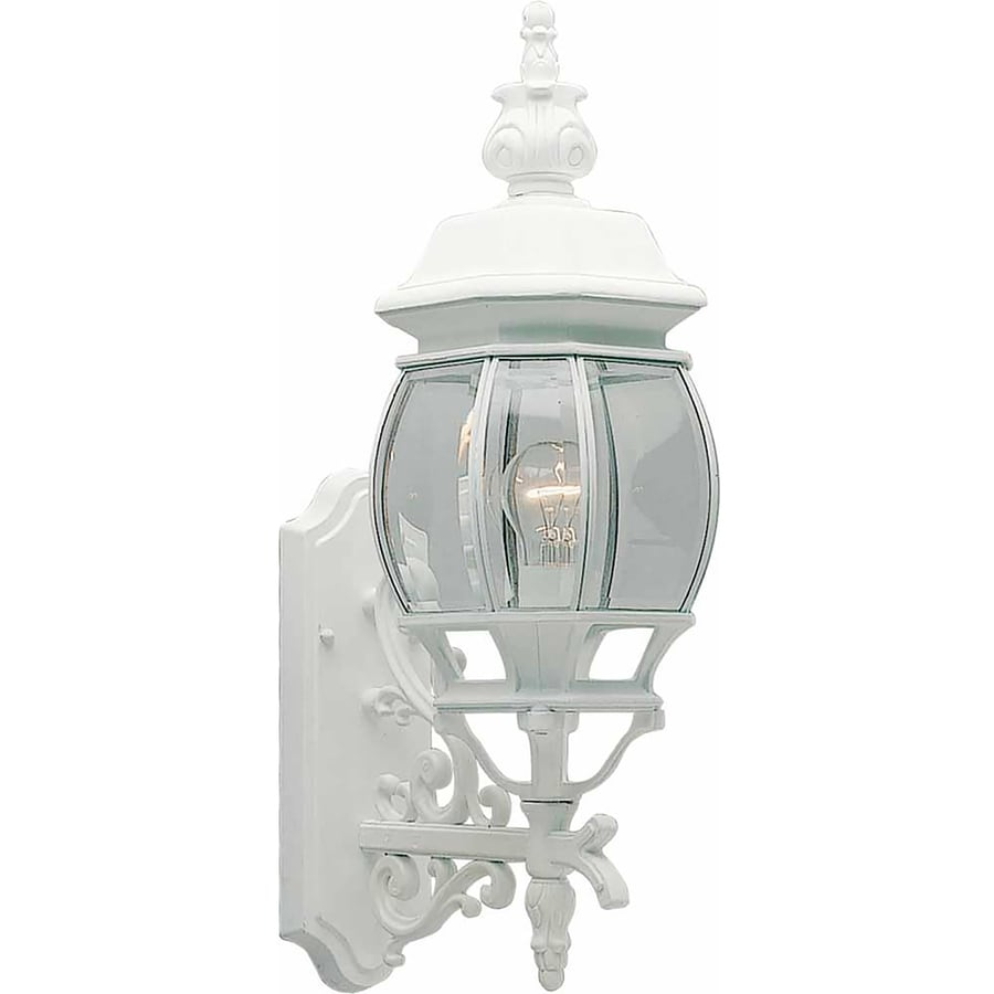 Hughson 23.5-in H White Outdoor Wall Light
