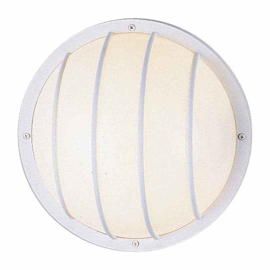 Mawtowa 10.25-in H White Outdoor Wall Light