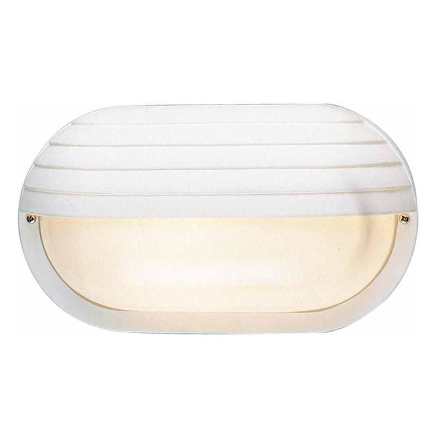 Shefte 6-in H White Outdoor Wall Light