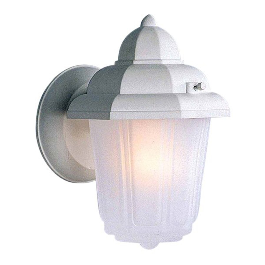 Bascom 8.75-in H White Outdoor Wall Light